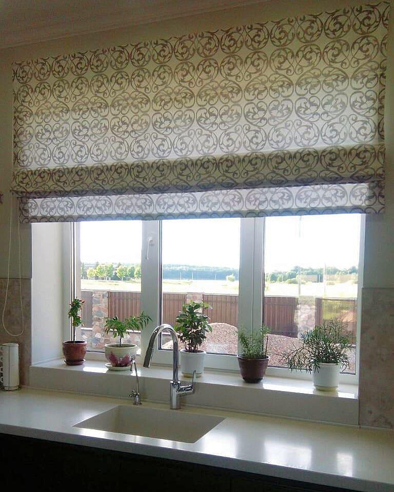 Римская штора, растительная тема