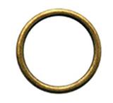 Кольцо металлическое простое