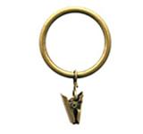 Кольцо металлическое простое с зажимом